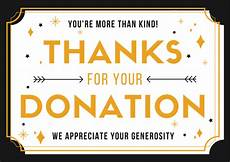 Thank You For Your Generous Donation Donation Thank You Letter Samples Free Printable Cards