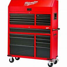 new milwaukee 46 in 16 drawer tool chest and rolling