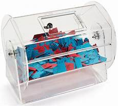 Drawing Raffle Tickets Raffle Ticket Drum Clear Acrylic Tabletop Container