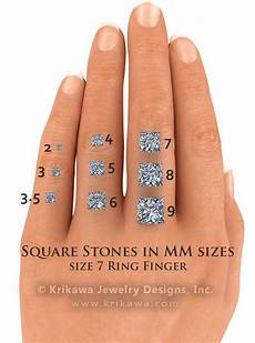 Princess Cut Diamond Earrings Size Chart Center Stone Size Charts And Diagrams