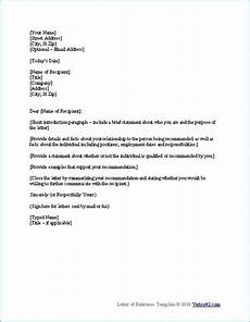 Template For Letter Of Reference Sample Reference Letter Template Photo Ideas Pinterest