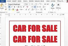 For Sale Templates Car For Sale Sign Word Template