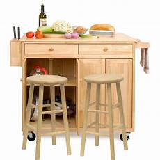 The Randall Portable Kitchen Island With Optional Stools The Vinton Portable Kitchen Island With Optional Stools