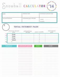 Credit Card Debt Payoff Plan Paying Off Debt Worksheets