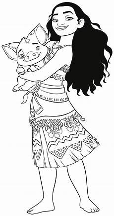 moana coloring pages disney at getcolorings free