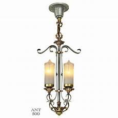 Candle Style Light Fixture 1920s Art Deco Candle Style 2 Light Antique Pendant