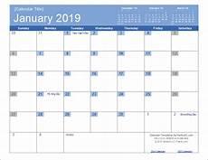 Vertex42 Calendar 2019 Calendar Templates And Images