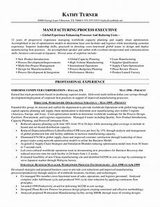 Resume The Process Manufacturing Executive Resume