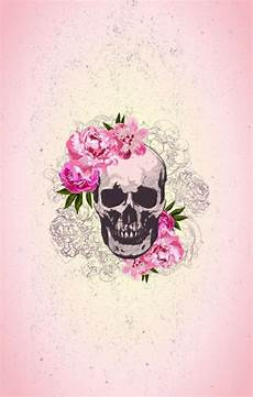 floral skull iphone wallpaper image about in wallpapers by jαανιι ɞ