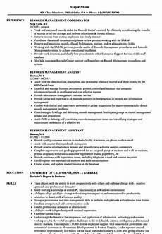 Rcw Cv Records Management Resume Samples Velvet Jobs