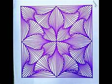 Geomtric Design How To Draw A Geometric Design By Ink Pen Youtube