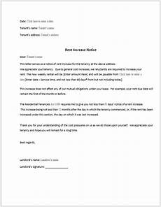 Increase Rent Notice Rent Increase Notice Sample Word Templates