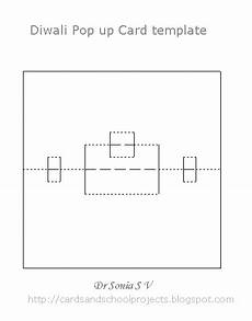 pop up card template for cards crafts projects diwali pop up cards and template