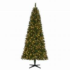 7 5 Slim Christmas Tree With Led Lights Home Accents Holiday 7 5 Ft Pre Lit Led Wesley Slim