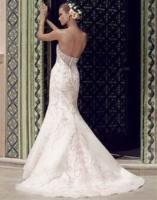 fit and flare silhouette gown with a strapless sweetheart