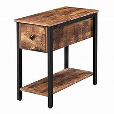 hoobro side table 2 tier nightstand with drawer narrow