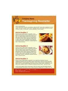 Thanksgiving Newsletter Template Free Thanksgiving Email Newsletter Templates