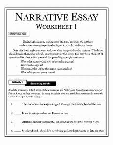 Essay Worksheets Narrative Essay On An Unforgettable Journey