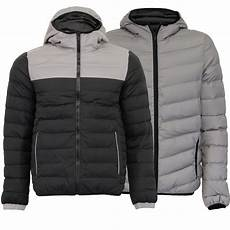 mens reflective jacket brave soul coat padded quilted