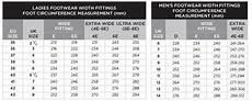 Foot Chart Size Uk Foot Measurement Guide