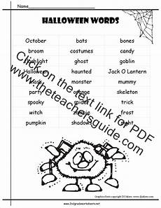 Halloween Themed Words Halloween Worksheets And Printouts
