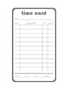 Employee Time Card Sample Time Card Professional Services Automation
