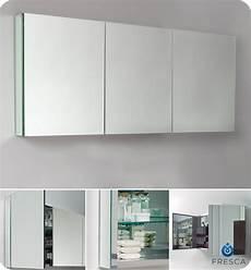 fresca 60 quot wide bathroom medicine cabinet w mirrors ebay