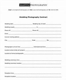 Standard Contract Template Free 11 Wedding Photography Contract Templates In Pdf