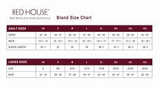 Red House Sizing Chart