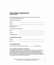 Commission Agreement Free 8 Sample Business Sales Agreement Templates In Ms