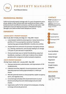 Management Duties Resume Property Manager Resume Example Amp Writing Tips Resume Genius