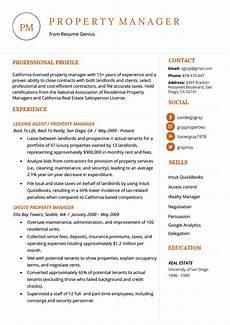 Regional Property Manager Resumes Property Manager Resume Example Amp Writing Tips Resume Genius