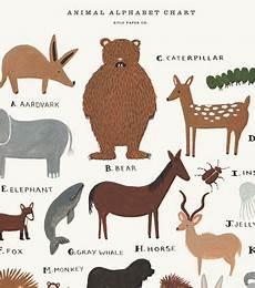 Rifle Paper Co Animal Alphabet Chart I Think My Little Boy Needs This Animal Alphabet Chart