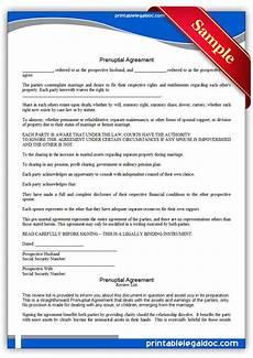 Prenuptial Agreement Templates Free Printable Prenuptial Agreement Forms