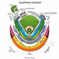Kauffman Stadium Row Chart Kauffman Stadium Maps Seating Charts And Tickets To