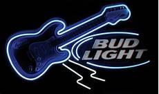 Neon Light Guitar 0021 Breweriana Bud Light Guitar Neon Sign New Old S