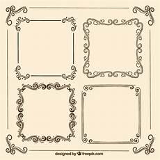 cornici eleganti retro cornici ornamentali scaricare vettori gratis
