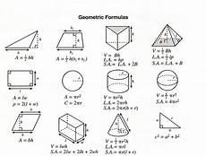 Geometric Formula Geometry Formulas