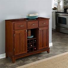 buffet storage cabinet in medium cherry finish with wood