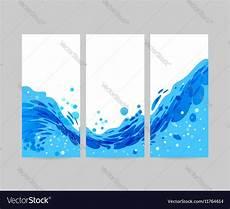 Background Leaflet Design Set Wave Background Brochure Design Royalty Free Vector