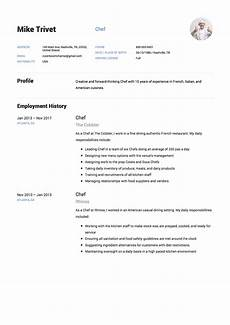 Example Of Chef Resume Chef Resume Amp Writing Guide 12 Free Templates Pdf 2020