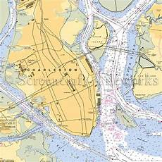 Charleston Sc Nautical Charts South Carolina Charleston Nautical Chart Decor