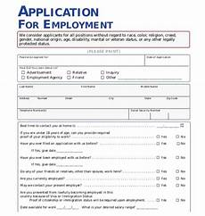 Employment Application Forms Free The Importance Of Employment Application Pdf Free Job