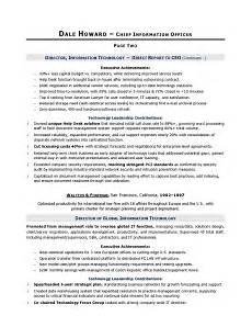 Cio Sample Resume Cio Sample Resume Chief Information Officer Resume It