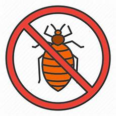 bed bug insect parasite pest stop icon