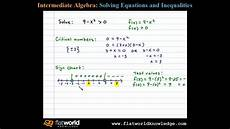 How To Do A Sign Chart Solve A Quadratic Inequality Using A Sign Chart Algebra