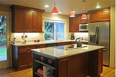 Red Pendant Lighting Kitchen U Shape Kitchen With Red Pendant Lighting Over Island
