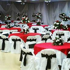 red black and silver wedding