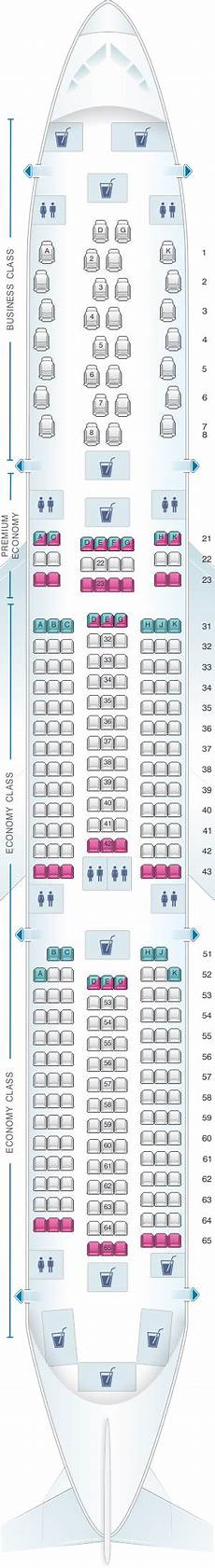 Airbus A350 900 Seating Chart Seat Map Philippine Airlines Airbus A350 900 Seatmaestro