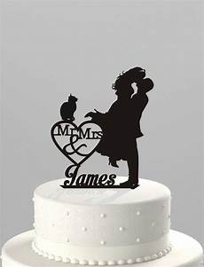 wedding cake topper silhouette couple mr mrs